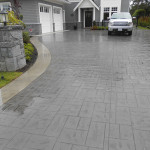 Stamped Concrete Driveway paved by Madison Paving in Victoria BC