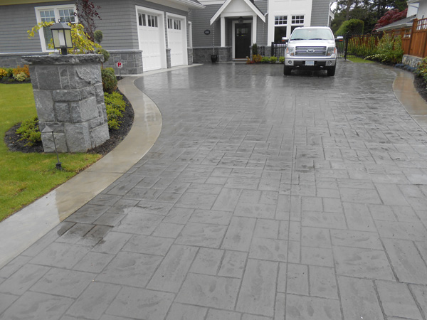 Stamped Concrete Driveway Woodburn Ave